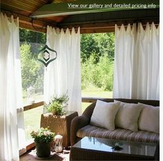 outdoor curtains!