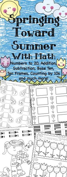 Numbers fun for Spring and Summer