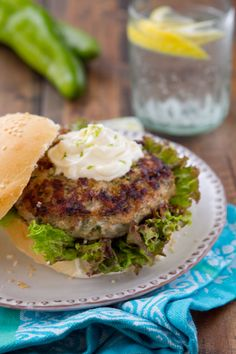 Hatch Chile Turkey Burger http://www.acommunaltable.com/hatch-chile-turkey-burger/