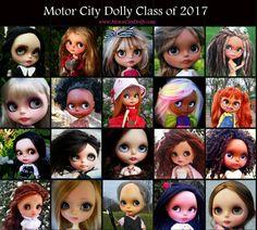 Motor City Dolly 2017---custom Blythe dolls
