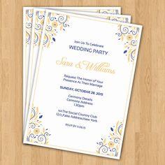 Wedding Invitation Template  Printable by WeddingTemplateStock