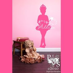 Twinkly Ballerina Name Personalized Wall Design by PopVinylStudio, $34.00. Also in Emma's room