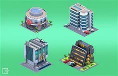 Citybuilder by Grafit, via Behance