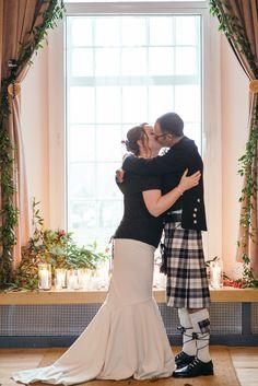 #mixedmaterials #fishtail  #scottishweddingdress #tweeddress #cashmeredress #wooldress Photos by http://www.zoecampbellphotography.com/