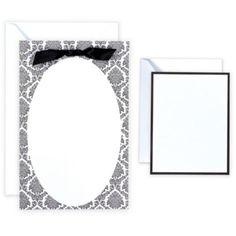 Black & White Oval Printable Wedding Invitations Kit 50ct - Party City