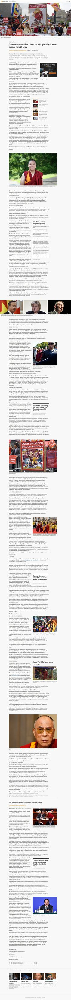 Reuters Anti-Dorje Shugden Report Backfires.  #buddhism #tibetan #dalailama #tibetanbuddhism #dharma #tibet #freetibet #tsemtulku #tsemrinpoche #kechara #wisdom #healing #protection #blessing #karma #india #dorjeshugden #buddha #puja #prayer #china #reuters #news