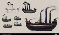 Prop Design, Treasure Island, Archipelago, Artwork, School, Vehicles, Work Of Art, Auguste Rodin Artwork, Artworks