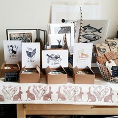 """184 Likes, 31 Comments - Jai Bess (@jaibess) on Instagram: """"Playing with layouts for my very first Jai Bird Press market stall (on a very undersized table). I…"""""""