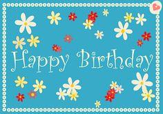 free printable Happy Birthday Cards –  freebies