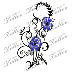 Marketplace Tattoo Trendy Flowers and lianas Tattoo #13264 | CreateMyTattoo.com