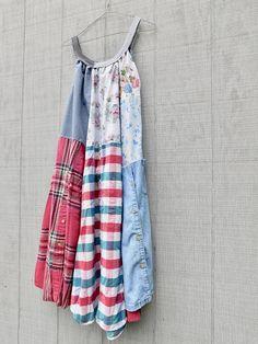 Upcycled Clothing Bohemian Summer Dress Wearable Art