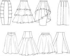 Skirts - Drawing Flats