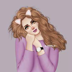 Image may contain: 1 person Beautiful Girl Drawing, Cute Girl Drawing, Drawing Girls, Girly M, Cartoon Girl Images, Girl Cartoon, Girly Drawings, Kawaii Drawings, Sarra Art