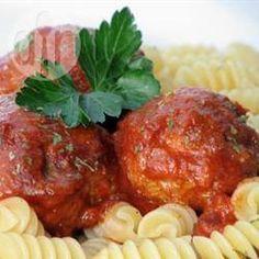 Rezeptbild: Hackbällchen mit Tomatensoße aus dem Slow Cooker