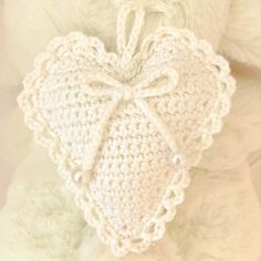 Pyssliga Fia: Virkat hjärta med mönster