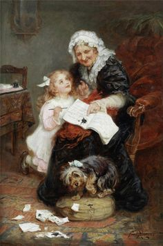 The Penitent Puppy~ by Frederick Morgan.