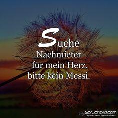 Suche  #Nachmieter  für mein #Herz, bitte kein #Messi