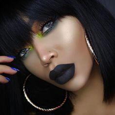 @iamcharityleigh is the ultimate babe in #sugarpill #prettypoison lipstick in Zero