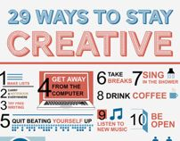 29 Ways to Stay Creative Infographic by Islam Abudaoud, via Behance