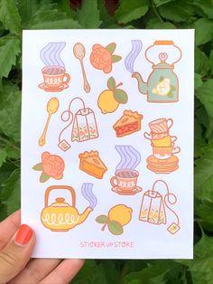 Journal Stickers, Scrapbook Stickers, Planner Stickers, Kawaii Doodles, Cute Doodles, Kawaii Stickers, Cute Stickers, Cute Scrapbooks, Animals
