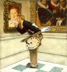Image result for The Art Collector  by norman rockwell