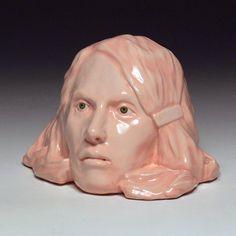 Christina West Untitled (pink head) porcelain, glaze, paint x x Paint Photography, Fine Art Photography, Contemporary Ceramics, Contemporary Art, Head Shapes, Ceramic Art, Portrait, Sculpture Art, Sculpting