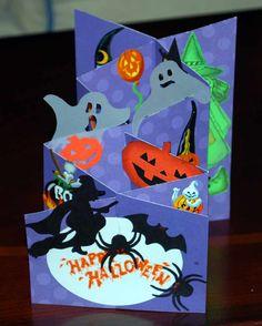 Halloween cascade card.