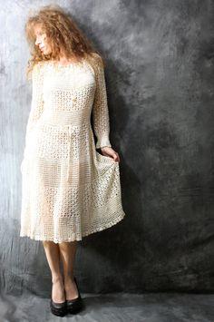 Hand Crochet Dress by MajikHorse