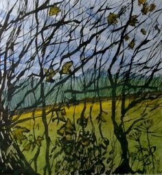 Edge of the copse, Linley no. 2. Ink and watercolour.