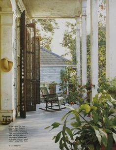 Mary Cooper's wonderful Creole cottage porch, New Orleans