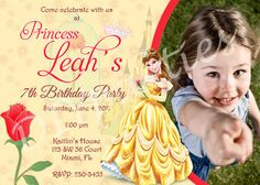 Belle The Beauty and the Beast invitation by PartyFavorsInc, $7.50