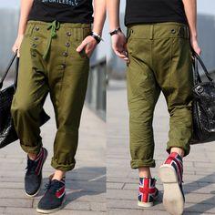 Army Green Harem Pants Ropy