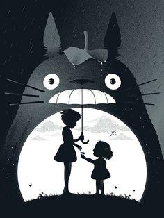 My Neighbor Totoro by Studio Ghibli I actually just watched this with my best friend last night. I love studio ghibli and Hayao Miyazaki is an amazing artist. Hayao Miyazaki, Film Anime, Manga Anime, Anime Art, Manga Art, Studio Ghibli Art, Studio Ghibli Movies, Anime Totoro, Anime Disney