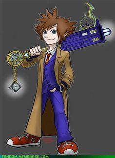 Doctor Who and Kingdom Hearts mashup!