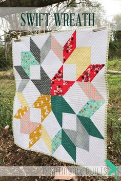 Simple and Easy Modern THROW Quilt PDF Pattern Swift Wreath on Etsy, $8.65