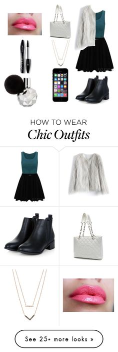 """""""Untitled #42"""" by ashfur123 on Polyvore featuring Chicwish, Chanel, Michael Kors, Lancôme, women's clothing, women, female, woman, misses and juniors"""