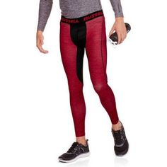 Russell Big Men's Printed Compression Pant, Size: 3XL, Red