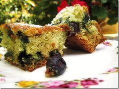 Blueberry Lavender Wacky Cake