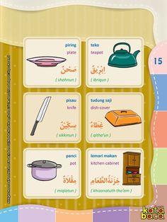Baca Online Kamus Pintar Bergambar 3 Bahasa adalah buku kamus bergambar full warna dalam 3 bahasa: Indonesia, Inggris, dan Arab untuk anak. Arabic Language, English Language, Learning Arabic, Kids Learning, Arabic Words, Arabic Quotes, Baca Online, Arabic Lessons, English Study
