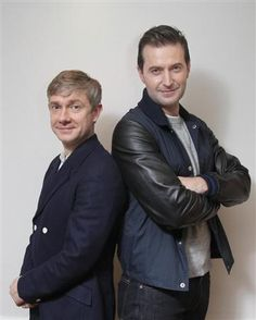 Martin Freeman  Richard Armitage. Cuteness abounds. I love the height difference. Actually... I love ALL extreme height differences.