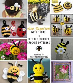 16 Free Bee-Inspired Crochet Patterns compiled by The Stitchin' Mommy | http://www.thestitchinmommy.com