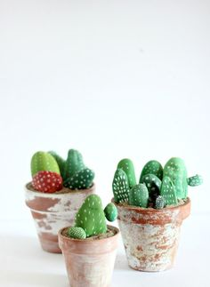 DIY Rock Cactus Pots: Kid inspired Cinco de Mayo party on the Handmade Childhoods blog by Fleur + Dot Fashion, Art, Design, Food + Style