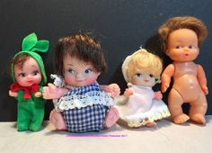 Vintage Lot of 4 Miniature Baby Dolls   eBay