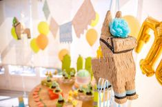Pinata from a Pastel Fiesta Cactus Birthday Party on Kara's Party Ideas | KarasPartyIdeas.com (5)