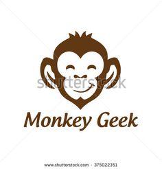 monkey geek , monkey vector logo design