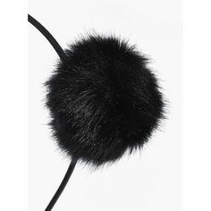 Boohoo Sofia Faux Fur Pom Headband | Boohoo (1125 ALL) ❤ liked on Polyvore featuring accessories, hair accessories, flower garland, floral crown headband, hair band accessories, pom pom garland and head wrap headband