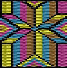 Marvelous Crochet A Shell Stitch Purse Bag Ideas. Wonderful Crochet A Shell Stitch Purse Bag Ideas. Tapestry Crochet Patterns, Bead Loom Patterns, Beading Patterns, Cross Stitch Patterns, Crochet Cross, Crochet Chart, Diy Crochet, Mochila Crochet, Crochet Shell Stitch