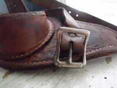 Leather Fighting Belt for Deep Sea Fishing Rod Vintage by KTsAttic
