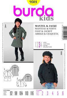 Burda 9501 - great coat for next year's holidays.