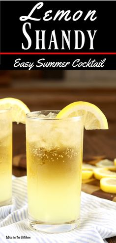 A Lemon Shandy is a refreshing cocktail to enjoy all summer long! Easy to make with your favorite beer. Add this easy beer cocktail to your next back yard party! #cocktail #beer